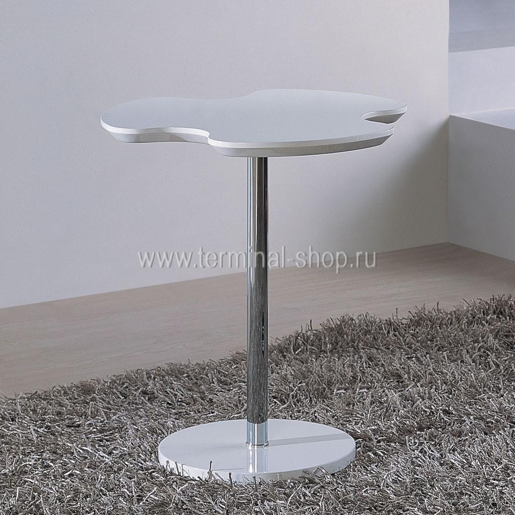 Стол журнальный A1380A (Хром M007, Глянец капучино W027)